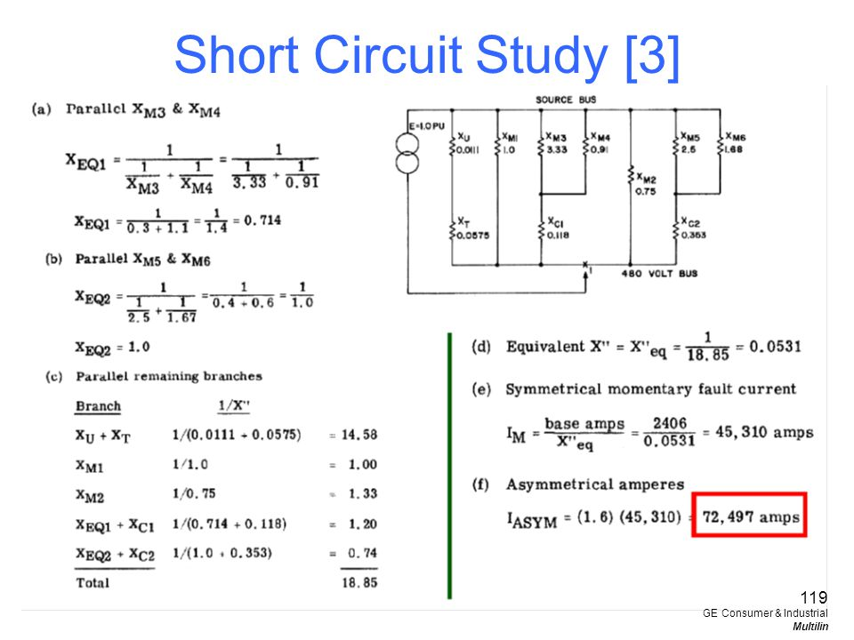 Short Circuit Study [3] 119 GE Consumer & Industrial Multilin